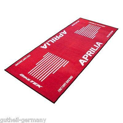Aprilia Garagenmatte / garage-mat / Garagenteppich /  bike-mat / rot rouge red