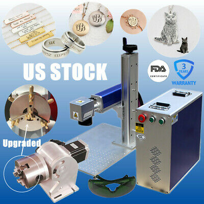 Usa 30w Split Fiber Laser Marking Engraving Machine With Ratory Axis For Jewelry