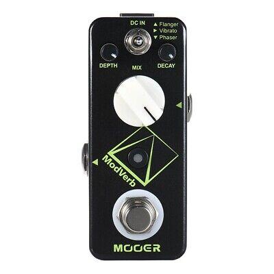 MOOER ModVerb Modulation Reverb Guitar Effect Pedal Flanger Vibrato Phaser