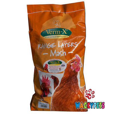 POULTRY CHICKEN FOOD: VERM X LAYERS MASH with Verm-X 20kg (COP002)