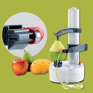 Electric Automatic Peeler Potato Fruit Apple Orange Veg Peeling Machine &2 Blade