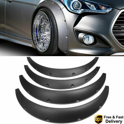 Arches Fender Flares 4Pcs 4''/100mm Flexible Car Extra Wide Body Wheel Universal