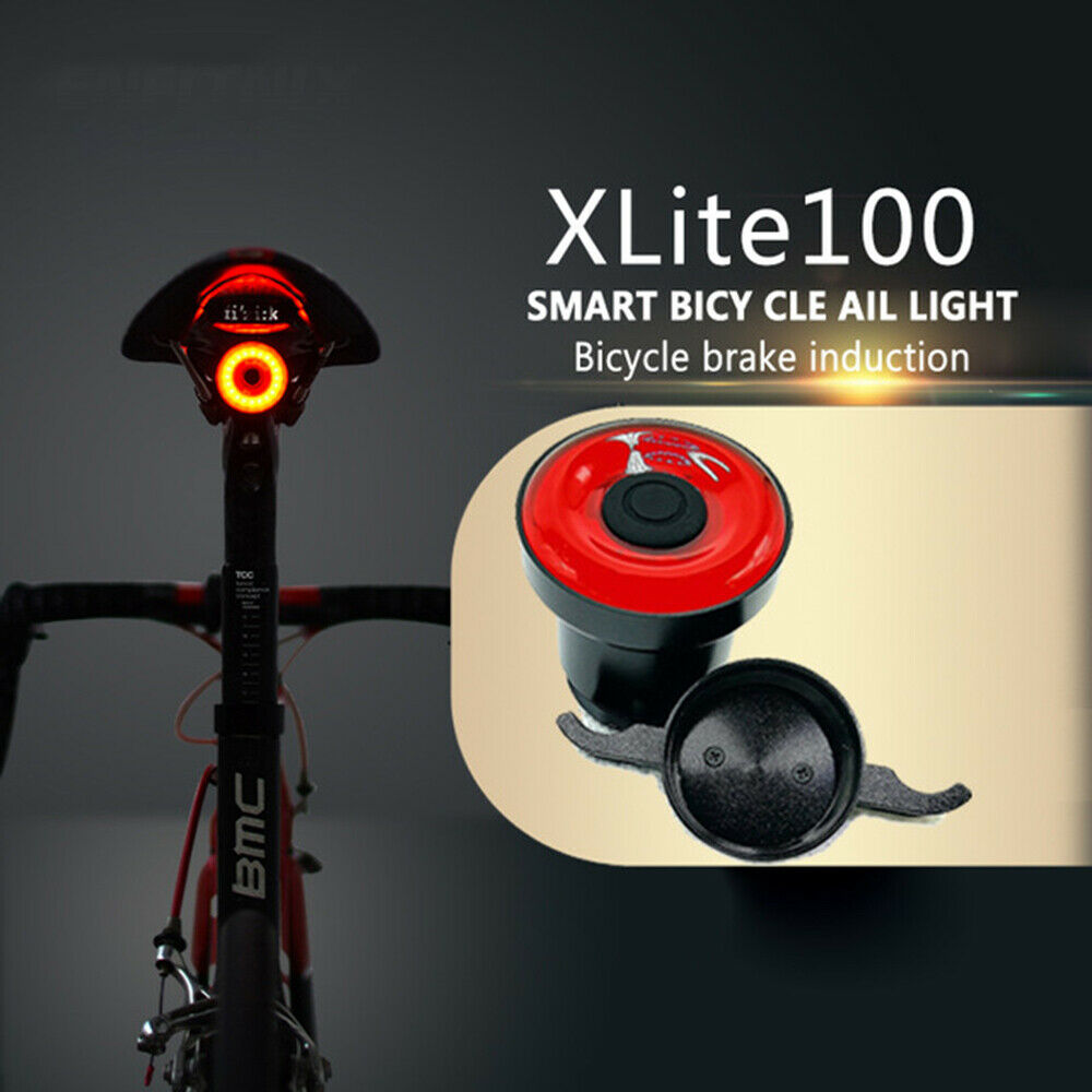 XLite100 Waterproof Bicycle LED USB Sense Tail Light Smart Brake Lamps Bike