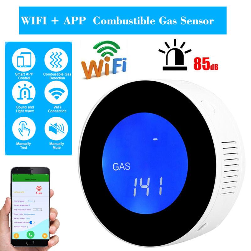 LCD WIFI Combustible Gas Leak Detector Home Security Gas Leak Alarm Alert Sensor