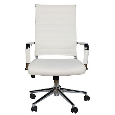 Modern Office Chair High Back Swivel Pu Leather Ergonomic Computer Desk Seat