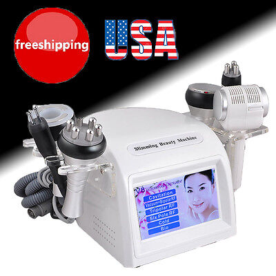 8 In1 40k Cavitation Vacuum Multipolar Rf Hotcold Hammmer Slimming Beauty Fda
