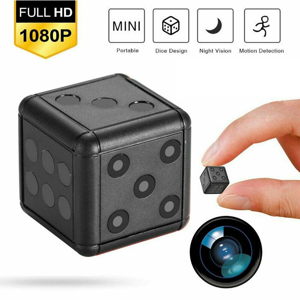 1080P Dice Mini Hidden Camera Microphone Spy Hide Keychain Cam Security SQ16 US