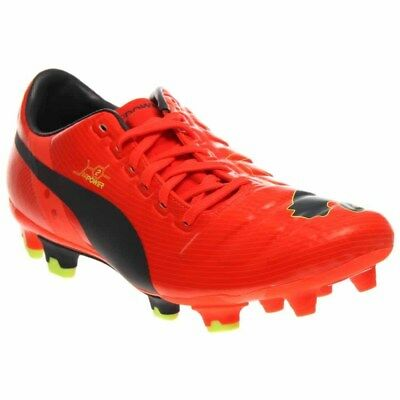 Puma EvoPOWER 2 Firm Ground Cleats Soccer Cleats - Orange -