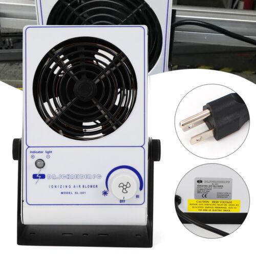 110v Ionizing Air Blower Fan Ion Anti-Static Ionizer Electro