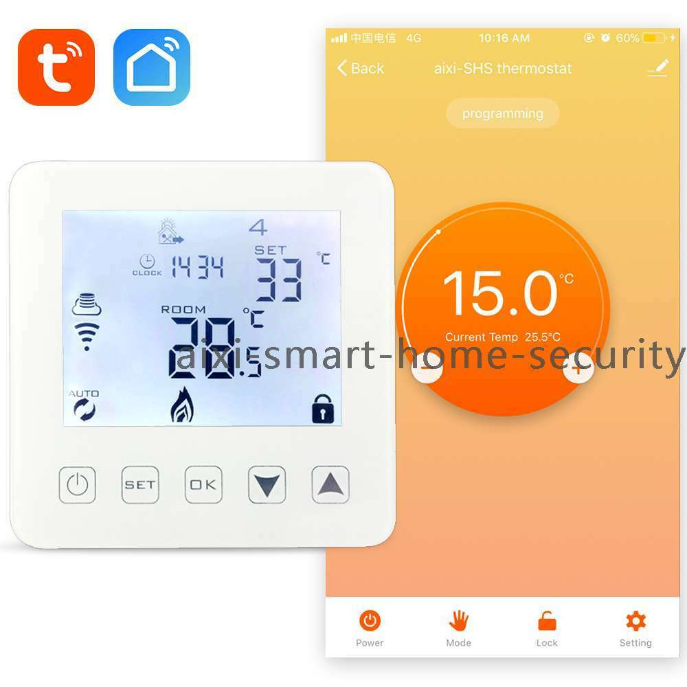 Wi-Fi Thermostat Water/Gas Boiler Heating - Amazon Alexa - TuyaSmart/Smart Life