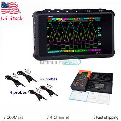 Digital Oscilloscope Ds213 Portable Lcd 4-channel Usb 15mhz 100msas Models
