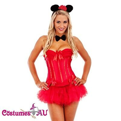 New Women Mickey Mouse Costume Deluxe Halloween Corset Fancy Dress Costume S-XL](Mickey Mouse Dress For Women)