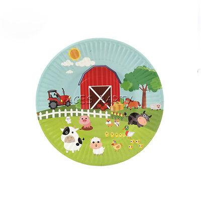 6pcs Farm Cow Pig Animals Theme Party Deco Disposable Tableware Paper Plates 7