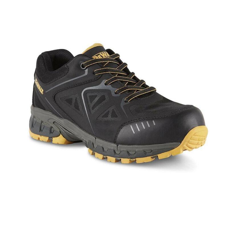 DeWalt Angle Steel Toe Shoe Men Size 10.5 Black/Yellow Nylon Mesh ProLite