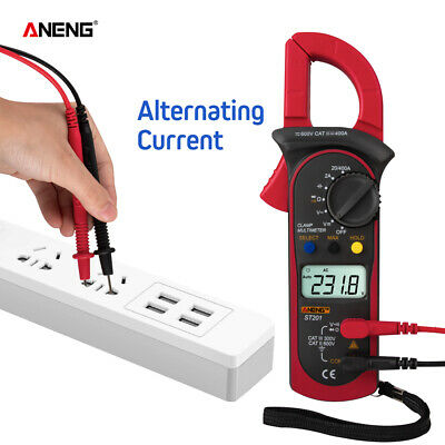 Aneng St201 Digital Clamp Multimeter 4000 Counts Meter Ammeters Ac Dc Volt U3f6