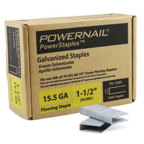 "Powernail PowerStaples, 15.5ga 1-1/2"" Flooring Staple. 5000ct per box"