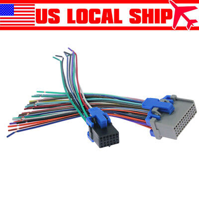 Reverse Radio Stereo Wiring Harness For 2002-up GM Factory Radio Installation