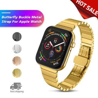 Xmas Sale! For Apple Watch 38/40mm Strap Stainless Steel Wristband Butterfly USA ()
