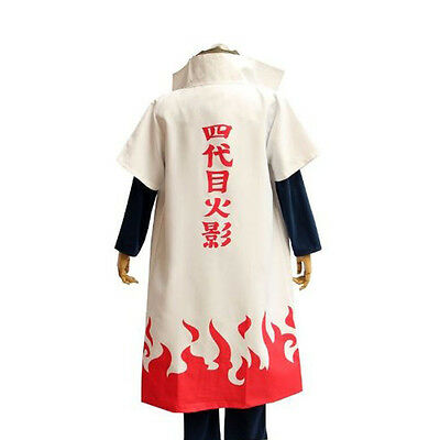 HOT Anime NARUTO Fourth Hokage Namikaze Minato Cosplay Costumes Uniform / Cloak - Naruto Costums