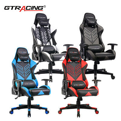 High-back Ergonomic Swivel Gaming Chair Racing With Lumbar Support Headrest