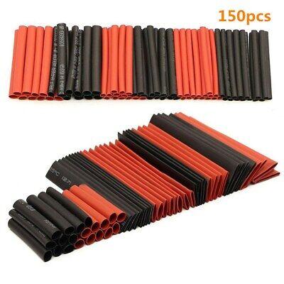 150x Heat Shrink Tubing 21 Waterproof Wire Wrap Assortment Insulation Tube Kit