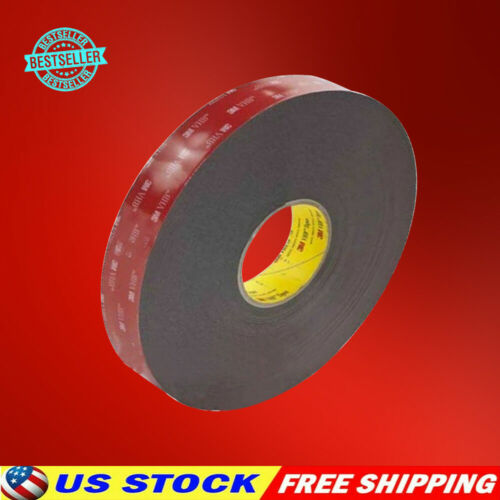 "1 Pc 3m 1/2"" X 9/15/21/108 Vhb Double Sided Foam Adhesive Tape 5952 Gopro Camera"