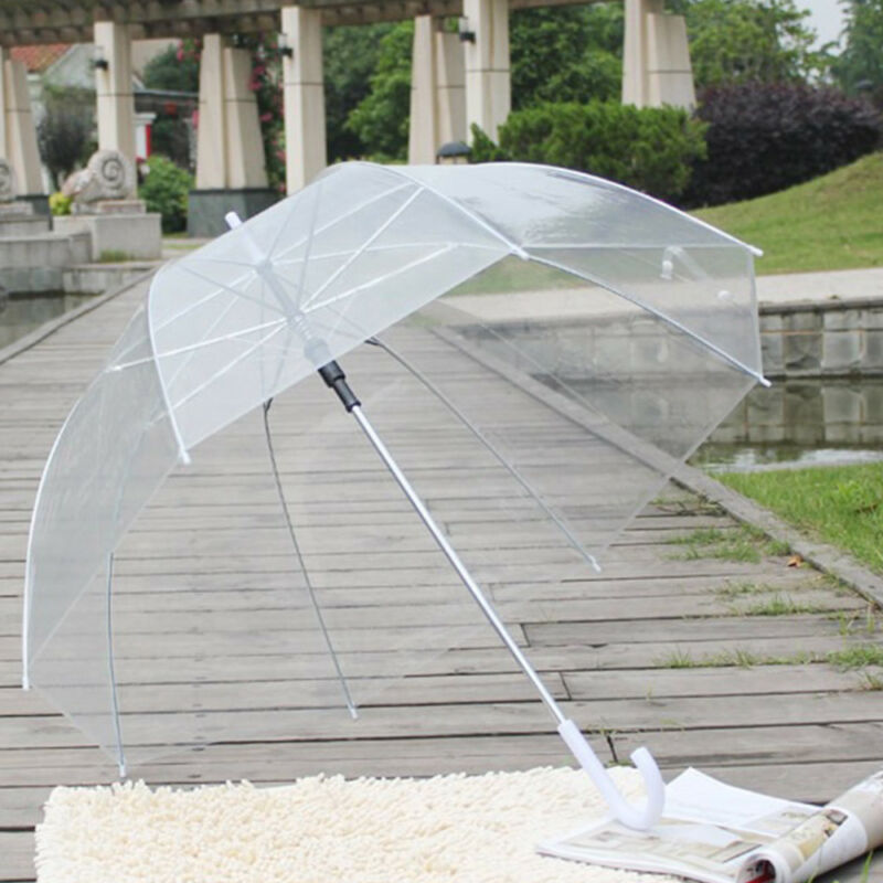 Regenschirm Durchsichtig Transparent Automatik Golf Partnerschirm Ø83cm Groß