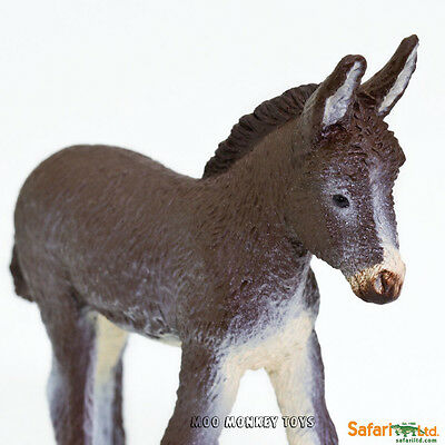 DONKEY FOAL  Safari Ltd # 249929 Baby Farm Barnyard Animal REPLICA  NWT