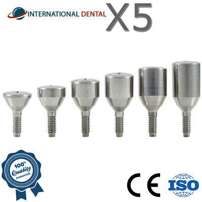 5 Titanium Healing Cap Wide 5.5mm Dental Implant Abutment Internal Hex