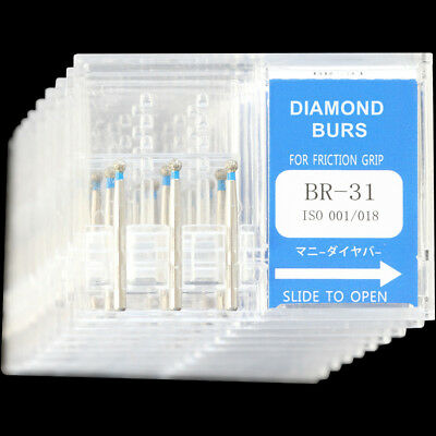 10 Boxes Br-31 Mani Dia-burs Dental High Speed Handpiece Diamond Burs Fg 1.6mm