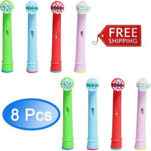 8 PCS Replacement Heads Fit For Oral-B Stages Kids Childrens Electric Toothbrush Health & Beauty