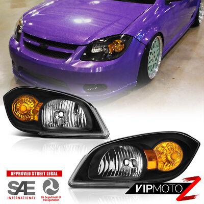 For 05-10 Chevrolet Cobalt Pontiac G5 Infinity Black OE STYLE Headlight Lamp L+R