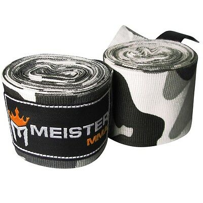 "MEISTER URBAN CAMO 180"" SEMI-ELASTIC HAND WRAPS - MMA Cotton Boxing Mexican PAIR"