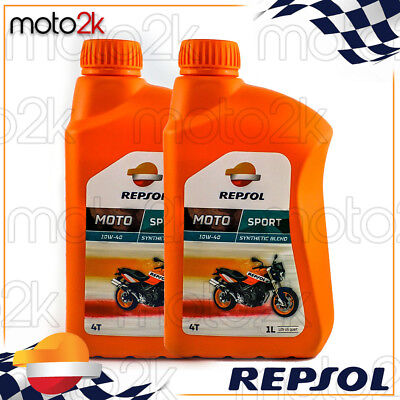 2L Aceite Motor Repsol Manillar Sintético Moto Sport 10W40 2 Litros 4T...