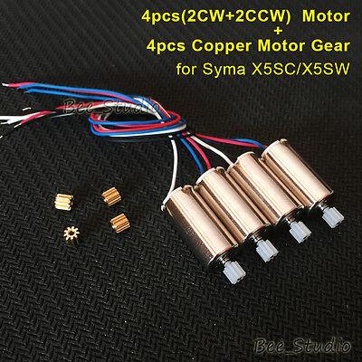 4PCS Motor engine + Copper Gear For Syma X5SW X5SC RC Drone Quadcopter Parts