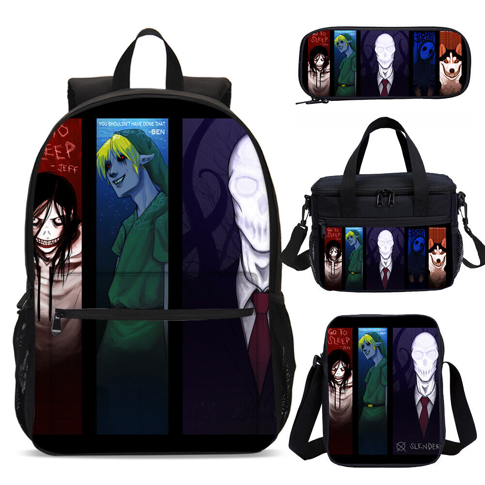 Boy Roblox Character Slender Slender Man Children Backpack Lunchbox Sling Bag Pen Case Kids Xmas Gifts Lot Ebay