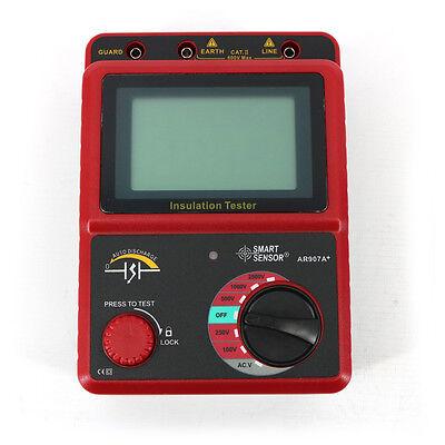 Ar907a Insulation Resistance Tester Digital Megohmmeter Ac Dc Voltage Tester