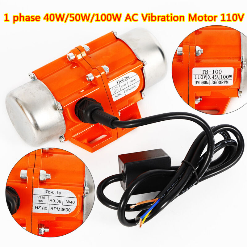 Professional Vibrator Motor Electric Motor Block Adjustable Imported Bearings US