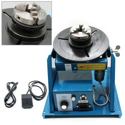 Mini Rotary Welding Positioner Turntable 2.5 Welder Table W 3 Jaw Lathe Chuck