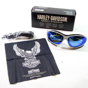 Harley Davidson® Blue Lens Padded Foam Riding Biker Motorcycle Glasses Goggles