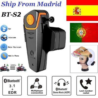 Moto BT-S2 Interphone Intercomunicador Motocicleta Casco Bluetooth Auriculares E