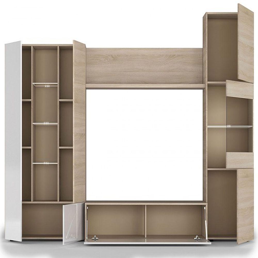 Mueble de comedor modulo moderno para salon con leds for Modulos para comedor