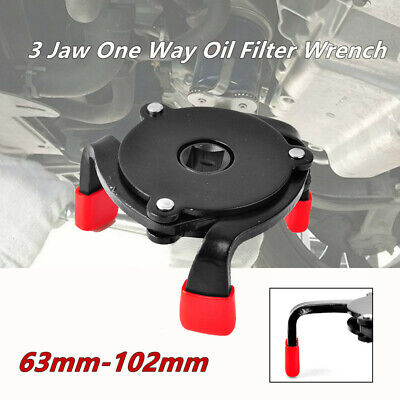 3 Jaw One Way Oil Filter Wrench Auto-Adjust Removal Repair Tools Driver Ratchets (Ratcheting Oil Filter Wrench)