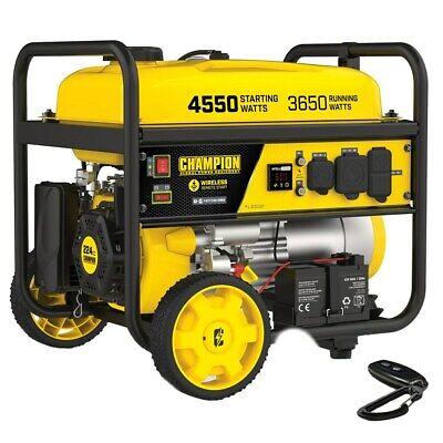 Champion 200971 - 3650 Watt Electric Start Portable Generator W Rv Outlet ...