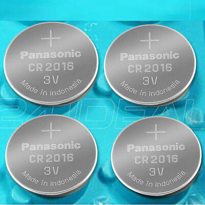 4 NEW PANASONIC CR2016 ECR 2016 Batteries 3V Exp.2025