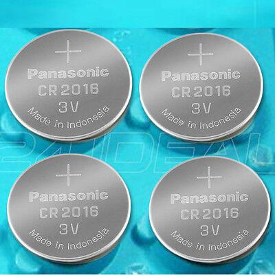 4 NEW PANASONIC CR2016 ECR 2016 Batteries 3V Exp.2025