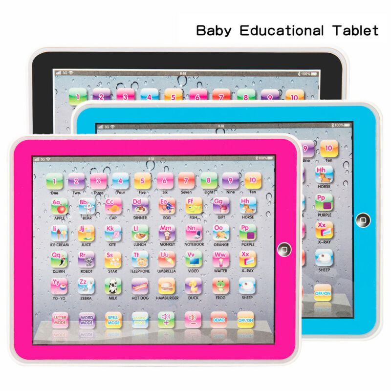 Baby Tablet Educational Toys Toy For 1-3 Year Toddler Learning English  pink