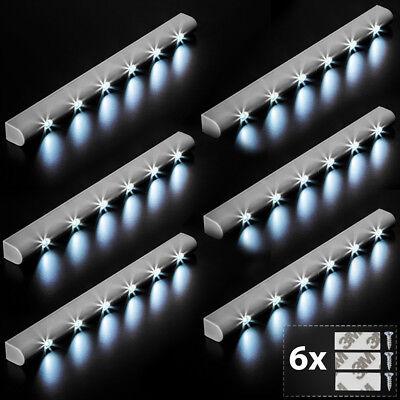 6x Barra luminosa a 6 LED con sensore di movimento per armadi luce lampada nuovo