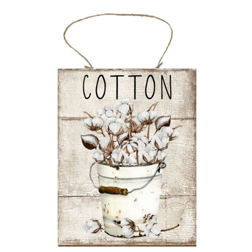 Cotton Bouquet  Farmhouse Printed Handmade Wood Sign