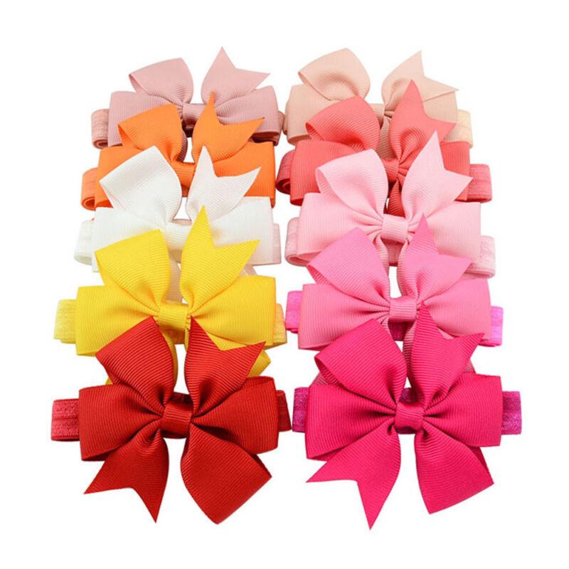 1 Piece Newborns Baby Girls Hair Band Fishtail Bow Decor Headband Headwear